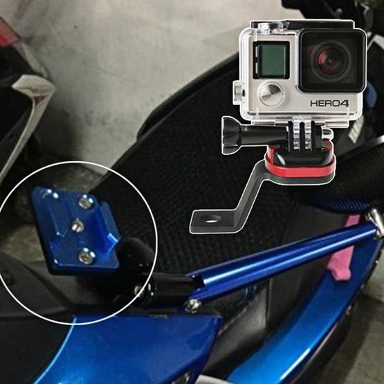 1 Motorcycle Rear View Mirror Bracket Mount Holder for GoPro Hero4 SJ4000
