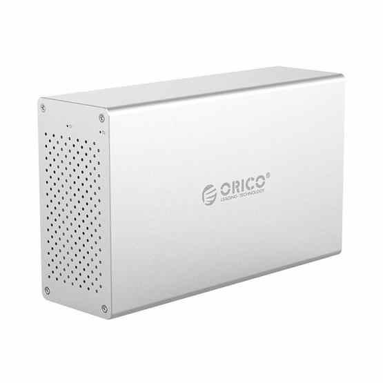 ORICO Honeycomb Series WS200C3 SATA 3.5 inch USB 3.1 USB-C / Type-C Dual Bays Aluminum Alloy HDD / SSD Enclosure, The Maximum Support Capacity: 20TB - 2