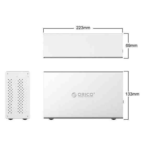 ORICO Honeycomb Series WS200C3 SATA 3.5 inch USB 3.1 USB-C / Type-C Dual Bays Aluminum Alloy HDD / SSD Enclosure, The Maximum Support Capacity: 20TB - 4