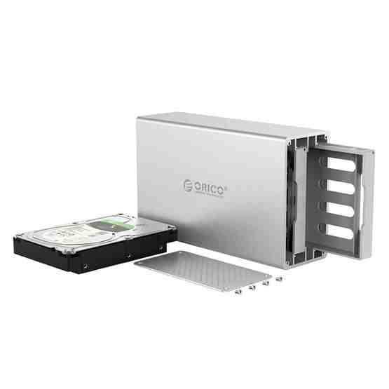 ORICO Honeycomb Series WS200C3 SATA 3.5 inch USB 3.1 USB-C / Type-C Dual Bays Aluminum Alloy HDD / SSD Enclosure, The Maximum Support Capacity: 20TB - 5