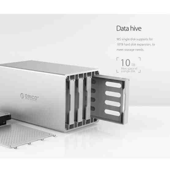 ORICO Honeycomb Series WS200C3 SATA 3.5 inch USB 3.1 USB-C / Type-C Dual Bays Aluminum Alloy HDD / SSD Enclosure, The Maximum Support Capacity: 20TB - 6