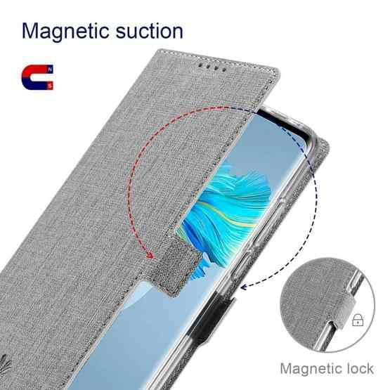 For Huawei Mate 40 Pro+ ViLi K Series Shockproof TPU + PU Leather Magnetic Buckle Horizontal Flip Case with Card Slots & Wallet & Holder(Grey) - 4