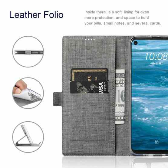 For Huawei Mate 40 Pro+ ViLi K Series Shockproof TPU + PU Leather Magnetic Buckle Horizontal Flip Case with Card Slots & Wallet & Holder(Grey) - 5