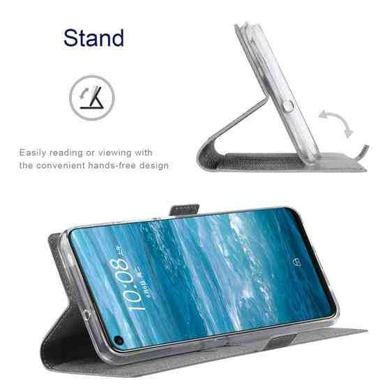 For Huawei Mate 40 Pro+ ViLi K Series Shockproof TPU + PU Leather Magnetic Buckle Horizontal Flip Case with Card Slots & Wallet & Holder(Grey) - 7