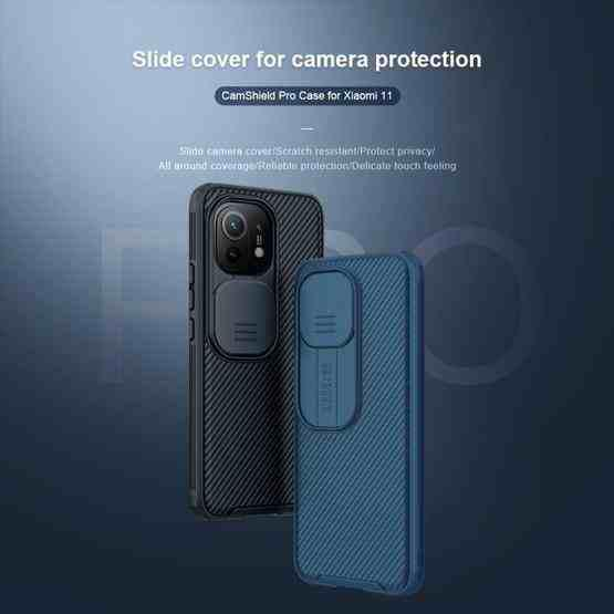 For Xiaomi Mi 11 NILLKIN Black Mirror Series PC Camshield Full Coverage Dust-proof Scratch Resistant Mobile Phone Case(Black) - 2