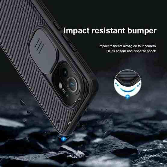 For Xiaomi Mi 11 NILLKIN Black Mirror Series PC Camshield Full Coverage Dust-proof Scratch Resistant Mobile Phone Case(Black) - 8