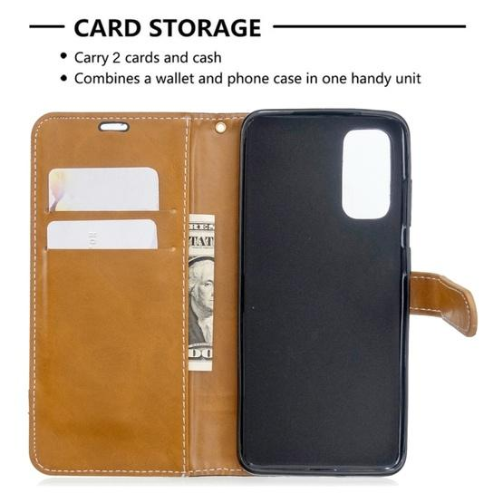 For Galaxy S20 Color Matching Denim Texture Horizontal Flip PU Leather Case with Holder & Card Slots & Wallet & Lanyard(Black) - 5