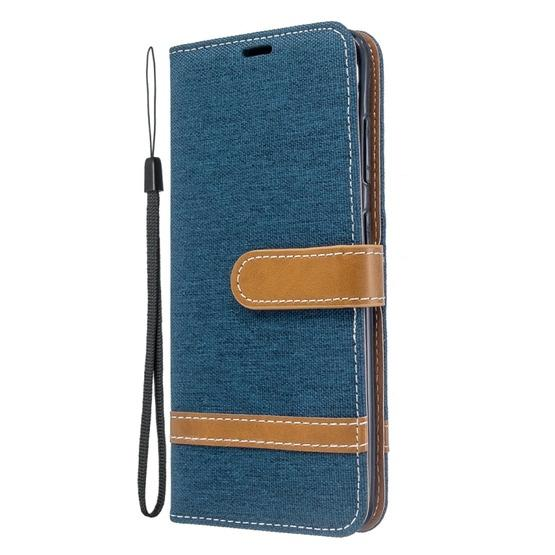 For Galaxy S20 Color Matching Denim Texture Horizontal Flip PU Leather Case with Holder & Card Slots & Wallet & Lanyard(Dark Blue) - 2