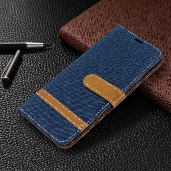 For Galaxy S20 Color Matching Denim Texture Horizontal Flip PU Leather Case with Holder & Card Slots & Wallet & Lanyard(Dark Blue) - 7