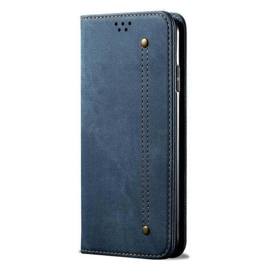 For Galaxy S20 Denim Texture Casual Style Horizontal Flip Leather Case with Holder & Card Slots & Wallet(Blue) - 2