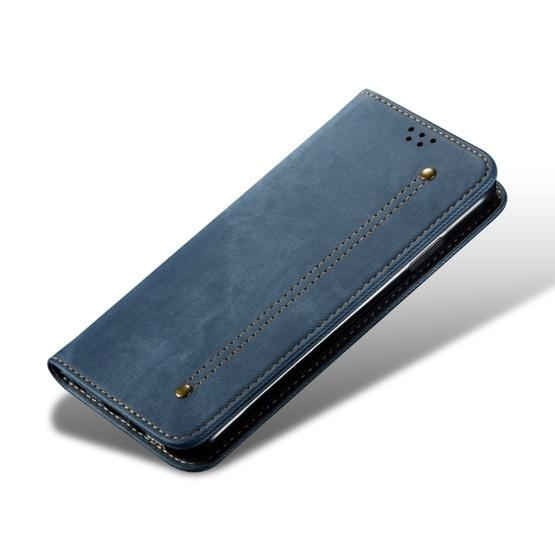 For Galaxy S20 Denim Texture Casual Style Horizontal Flip Leather Case with Holder & Card Slots & Wallet(Blue) - 4