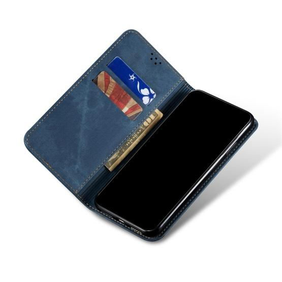For Galaxy S20 Denim Texture Casual Style Horizontal Flip Leather Case with Holder & Card Slots & Wallet(Blue) - 5