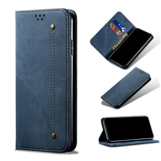 For Galaxy S20 Denim Texture Casual Style Horizontal Flip Leather Case with Holder & Card Slots & Wallet(Blue) - 7