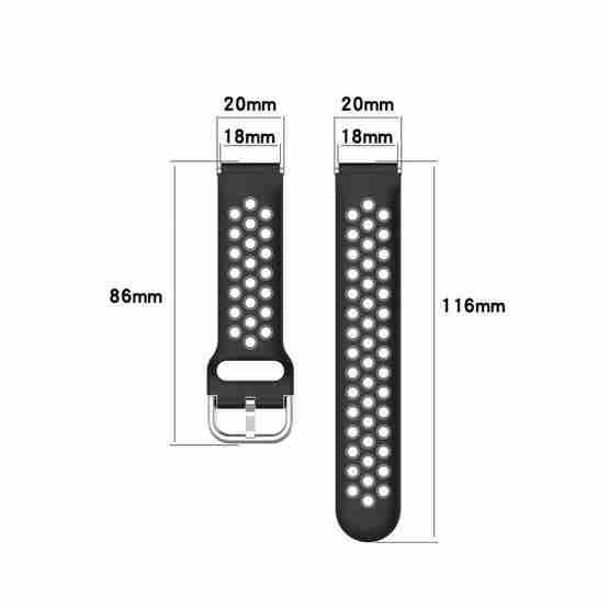For Xiaomi Watch / Huawei Honor S1 18mm Two Color Sport Wrist Strap Watchband(Purple + Green) - 5