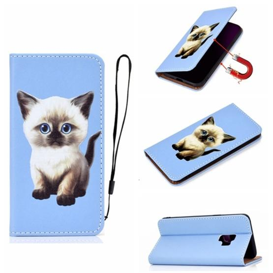 For Galaxy S9 3D Painting Horizontal Flip Leather Case with Holder & Card Slot & Wallet & Lanyard(Cat) - 1