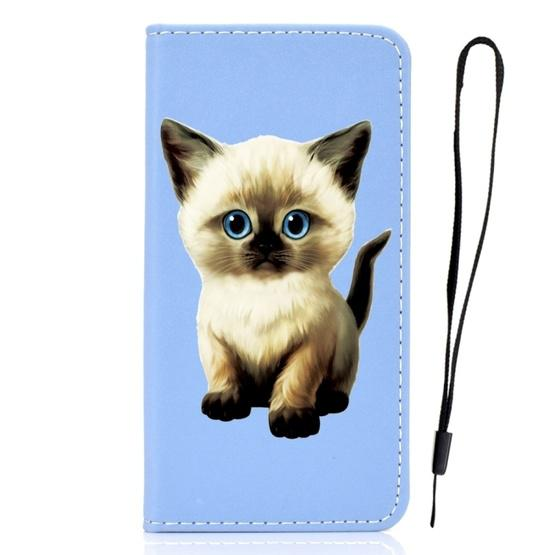 For Galaxy S9 3D Painting Horizontal Flip Leather Case with Holder & Card Slot & Wallet & Lanyard(Cat) - 2