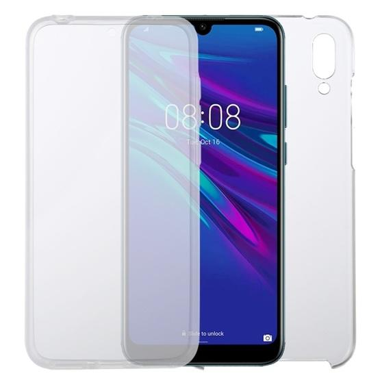 For Huawei Y7 2019 PC+TPU Ultra-Thin Double-Sided All-Inclusive Transparent Case - 1