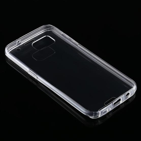 For Samsung Galaxy S7 Edge PC+TPU Ultra-Thin Double-Sided All-Inclusive Transparent Case - 3