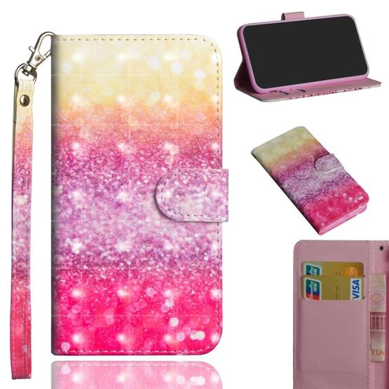 For OPPO A5 (2020) / A9 (2020) 3D Painting Pattern Horizontal Flip TPU + PU Leather Case with Holder & Card Slots & Wallet(Gradient Color) - 1