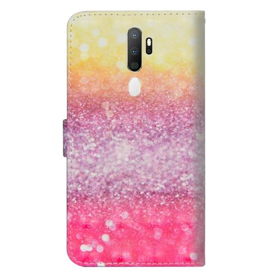 For OPPO A5 (2020) / A9 (2020) 3D Painting Pattern Horizontal Flip TPU + PU Leather Case with Holder & Card Slots & Wallet(Gradient Color) - 3