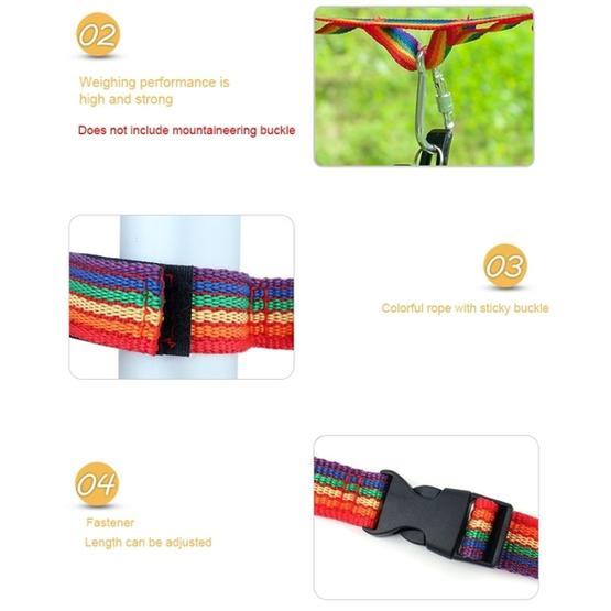Outdoor Camping Tent Rainbow Rope Decoration Color Ribbon and a Storage Bag, Size: 187*2 cm - 5