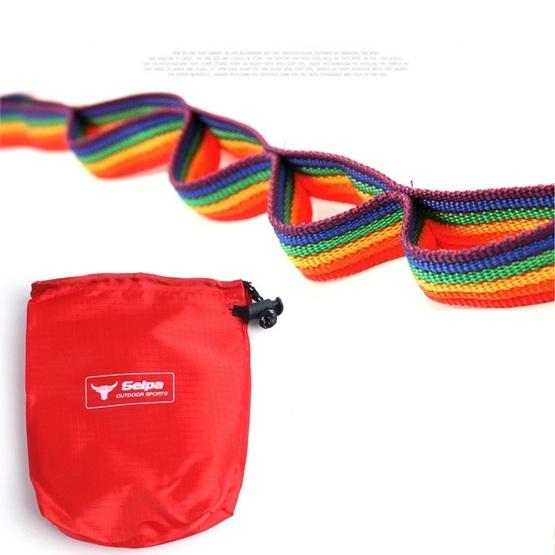 Outdoor Camping Tent Rainbow Rope Decoration Color Ribbon and a Storage Bag, Size: 187*2 cm - 6