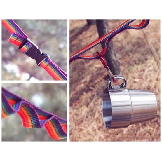 Outdoor Camping Tent Rainbow Rope Decoration Color Ribbon and a Storage Bag, Size: 187*2 cm - 7