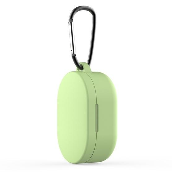 For Xiaomi Redmi AirDots & Xiaomi AirDots Youth Version Earphone Silicone Protective Case with Hook(Green) - 1