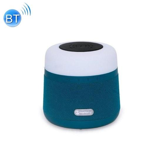 NewRixing NR-3500 Multi-function Atmosphere Light Wireless Charging Bluetooth Speaker with Hands-free Call Function, Support TF Card & USB & FM & AUX (Blue) - 1