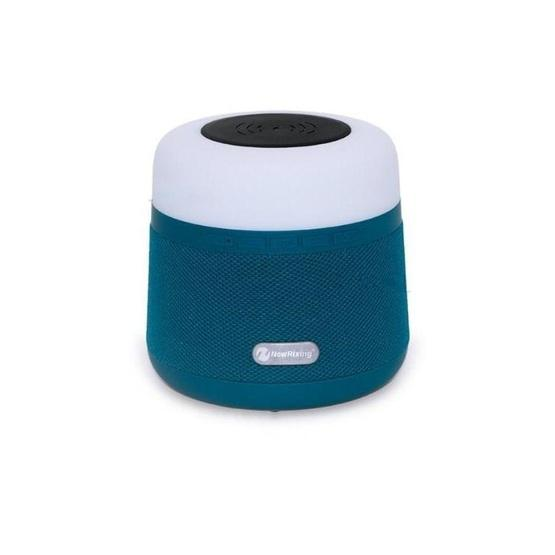 NewRixing NR-3500 Multi-function Atmosphere Light Wireless Charging Bluetooth Speaker with Hands-free Call Function, Support TF Card & USB & FM & AUX (Blue) - 2