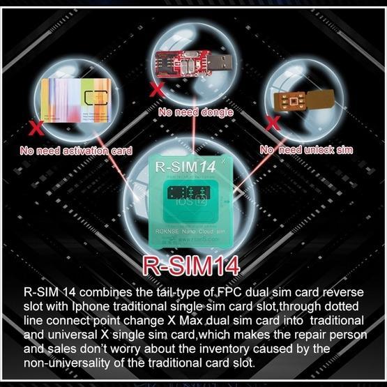 R-SIM 14 X Ultra Universal ICCID SIM Unlock Card for iPhone X, XS, XR, XS  Max, 8 & 8 Plus, 7 & 7 Plus