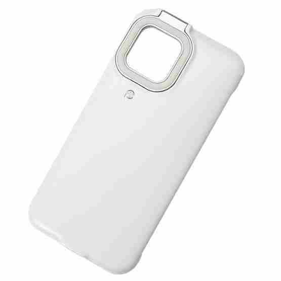 Ring Flash Selfie Fill Light Protective Case For iPhone 12 / 12 Pro (White) - 2