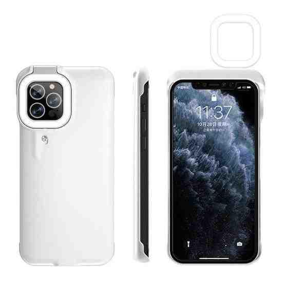 Ring Flash Selfie Fill Light Protective Case For iPhone 12 / 12 Pro (White) - 4
