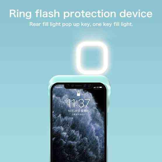 Ring Flash Selfie Fill Light Protective Case For iPhone 12 / 12 Pro (White) - 7
