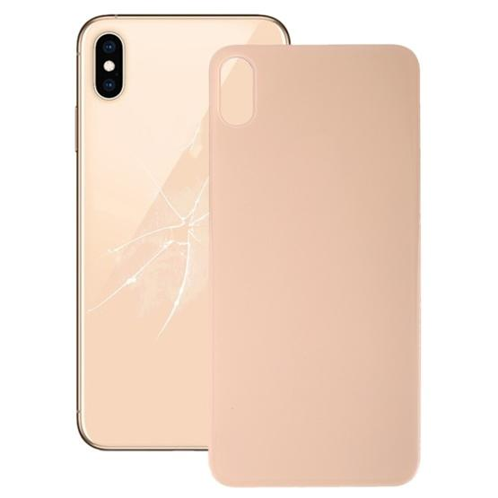 sale retailer 6c3e5 83e1e Easy Replacement Big Camera Hole Glass Back Battery Cover with Adhesive for  iPhone XS(Gold)
