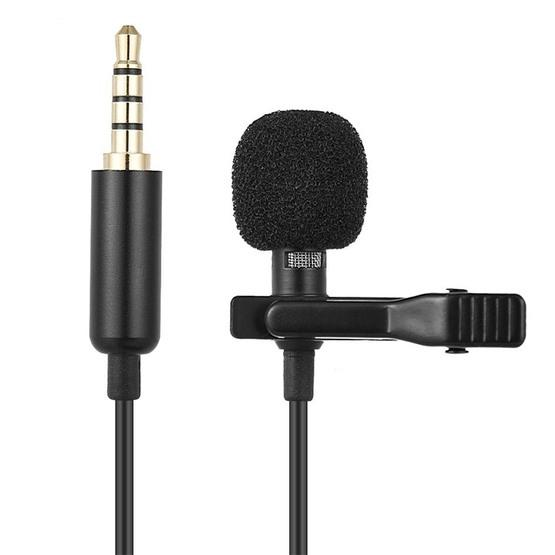 1 5m Lavalier Wired Recording Microphone Mobile Phone Karaoke Mic(Black)
