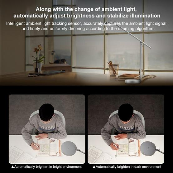 Original Huawei Smart Eye-protection Desk Lamp Pro Anti-blue Light Automatic Dimming Student Reading and Writing Table Light(Silver) - 3