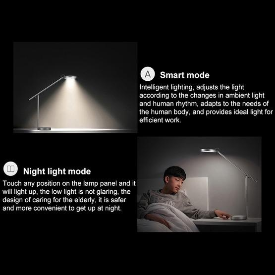 Original Huawei Smart Eye-protection Desk Lamp Pro Anti-blue Light Automatic Dimming Student Reading and Writing Table Light(Silver) - 7