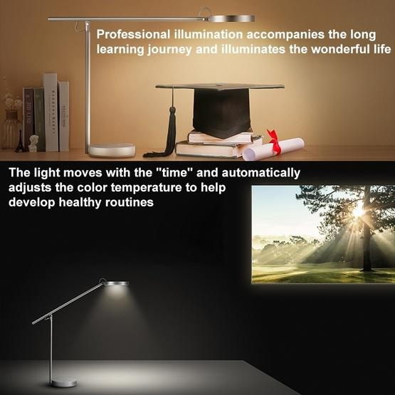 Original Huawei Smart Eye-protection Desk Lamp Pro Anti-blue Light Automatic Dimming Student Reading and Writing Table Light(Silver) - 10