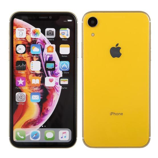 Color Screen Non-Working Fake Dummy Display Model for iPhone XR (Yellow) - 2