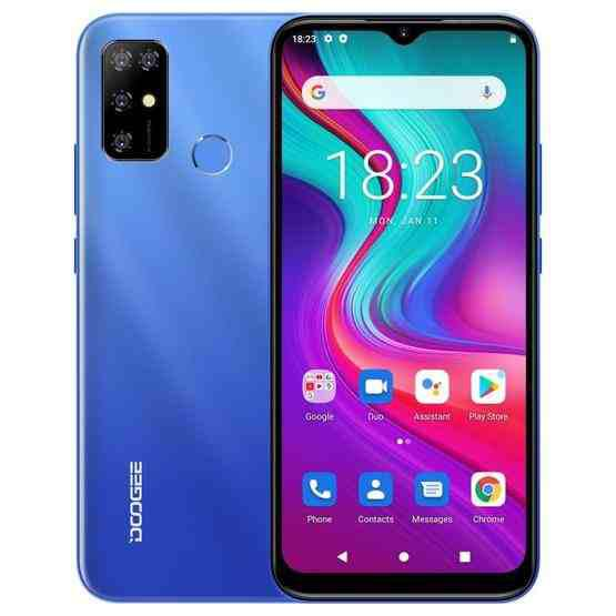 [HK Warehouse] DOOGEE X96 Pro, 4GB+64GB, Quad Back Cameras, 5400mAh Battery, Rear-mounted Fingerprint Identification, 6.52 inch Water-drop Screen Android 11.0 SC9863A OCTA-Core up to 1.6GHz, Network: 4G, OTG, Dual SIM (Blue) - 1