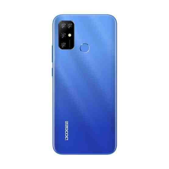 [HK Warehouse] DOOGEE X96 Pro, 4GB+64GB, Quad Back Cameras, 5400mAh Battery, Rear-mounted Fingerprint Identification, 6.52 inch Water-drop Screen Android 11.0 SC9863A OCTA-Core up to 1.6GHz, Network: 4G, OTG, Dual SIM (Blue) - 3