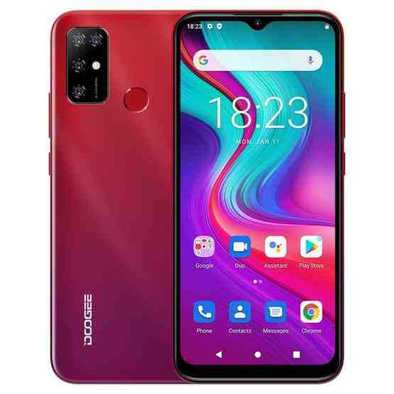 [HK Warehouse] DOOGEE X96 Pro, 4GB+64GB, Quad Back Cameras, 5400mAh Battery, Rear-mounted Fingerprint Identification, 6.52 inch Water-drop Screen Android 11.0 SC9863A OCTA-Core up to 1.6GHz, Network: 4G, OTG, Dual SIM (Red) - 1