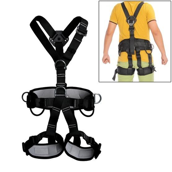 XINDA XD-6503 Outdoor Rock Climbing Polyester High-strength Wire Downhill Whole Body Safety Belt - 1