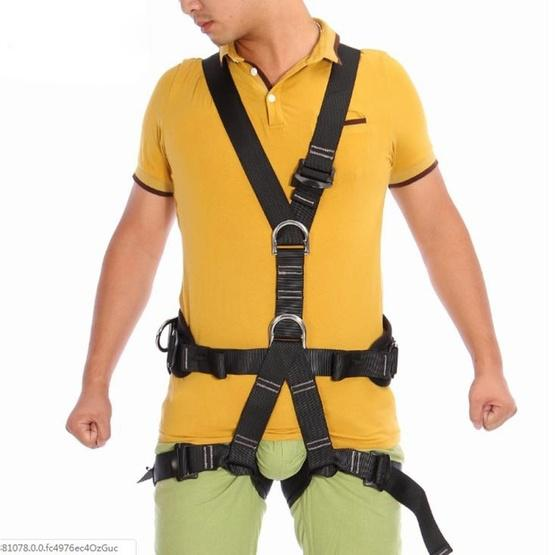 XINDA XD-6503 Outdoor Rock Climbing Polyester High-strength Wire Downhill Whole Body Safety Belt - 6