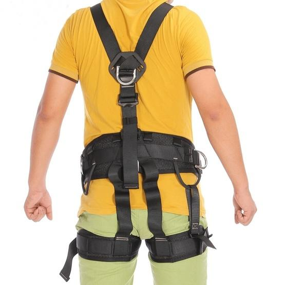 XINDA XD-6503 Outdoor Rock Climbing Polyester High-strength Wire Downhill Whole Body Safety Belt - 7