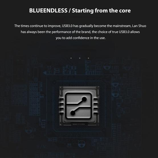 Blueendless U23Q SATA 2.5 inch Micro B Interface HDD Enclosure with Micro B to USB Cable, Support Thickness: 10mm or less - 5