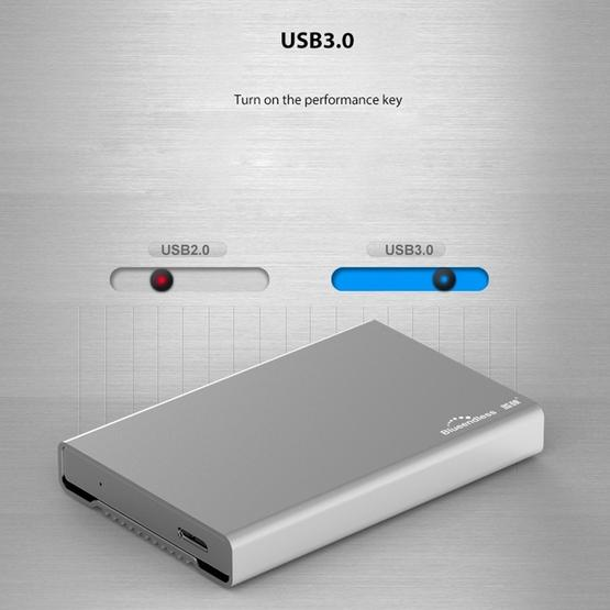 Blueendless U23Q SATA 2.5 inch Micro B Interface HDD Enclosure with Micro B to USB Cable, Support Thickness: 10mm or less - 10