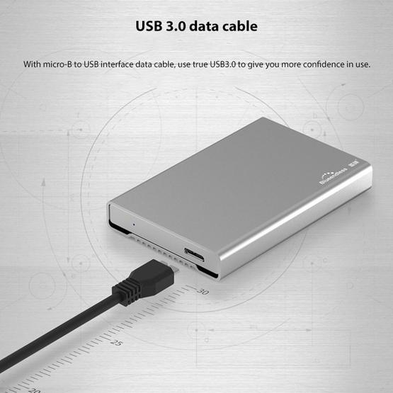 Blueendless U23Q SATA 2.5 inch Micro B Interface HDD Enclosure with Micro B to USB Cable, Support Thickness: 10mm or less - 11