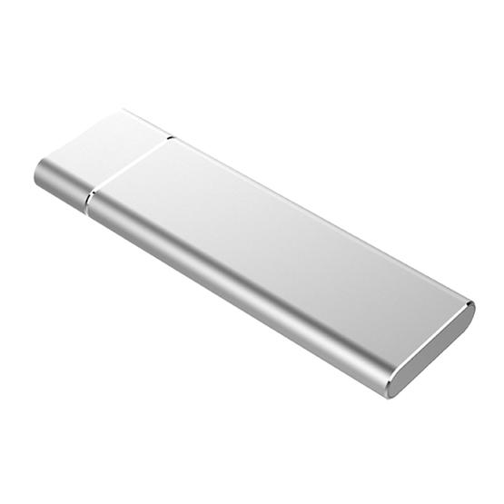 M.2 NGFF to USB-C / Type-C USB 3.1 Interface Aluminum Alloy SSD Enclosure (Silver) - 2